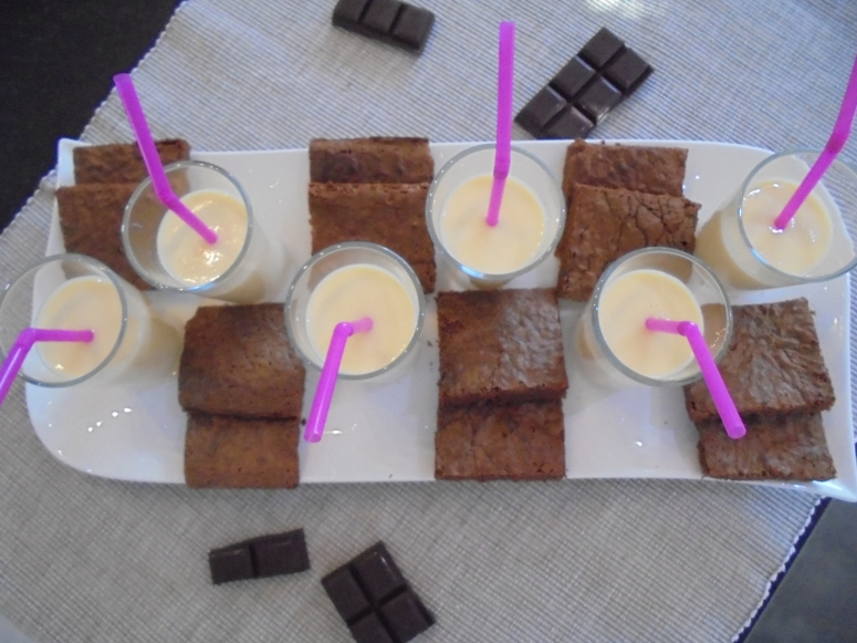 Pavé au chocolat et créme anglaise (1)