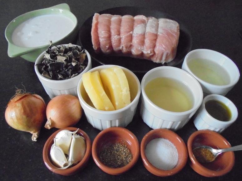 roti de porc ananas et lait de coco (4)