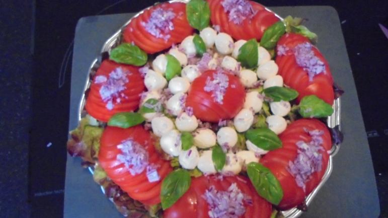 Brochette de poulet mariné à l'acienne et salade d'été (12)