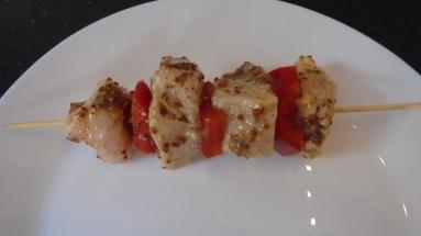 Brochette de poulet mariné à l'acienne et salade d'été (18)