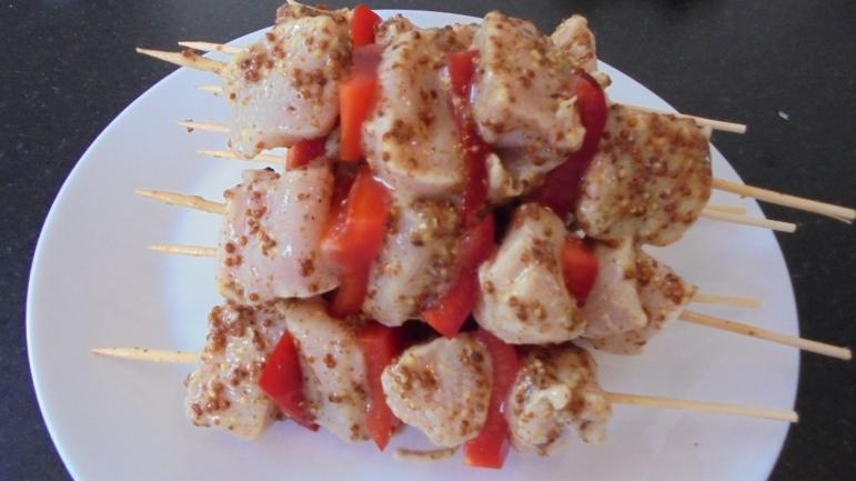 Brochette de poulet mariné à l'acienne et salade d'été (19)