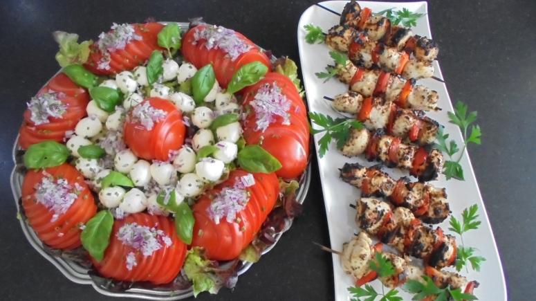 Brochette de poulet mariné à l'acienne et salade d'été (21)