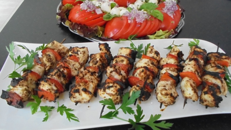 Brochette de poulet mariné à l'acienne et salade d'été (22)