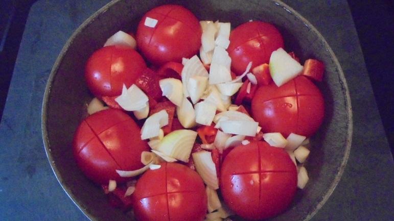 Gaspacho tomate, poivron et son croustillant (11)