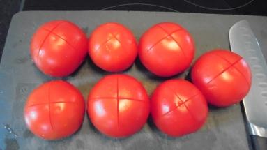 Gaspacho tomate, poivron et son croustillant (4)