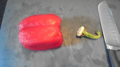 Gaspacho tomate, poivron et son croustillant (5)