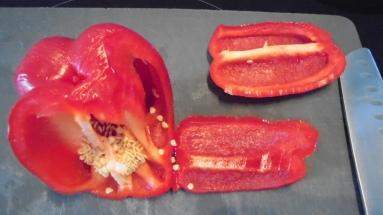 Gaspacho tomate, poivron et son croustillant (7)
