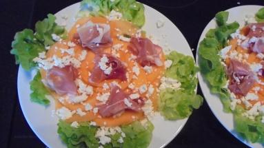 Salade melon et jambon fumé (2)