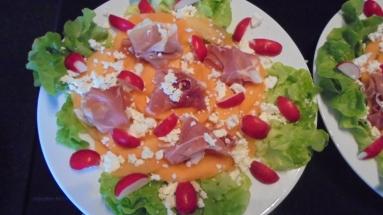 Salade melon et jambon fumé (4)