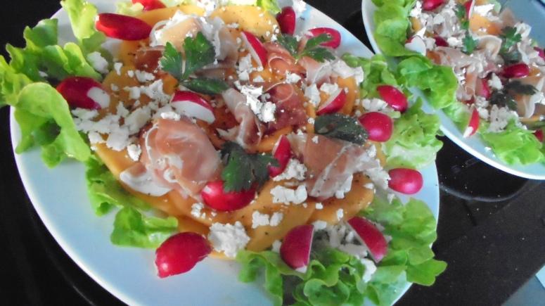 Salade melon et jambon fumé (5)