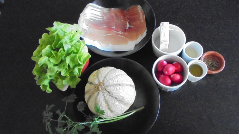 Salade melon et jambon fumé (9)