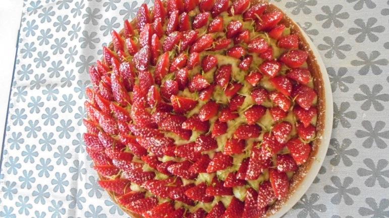 Tarte aux fraises et crème patissière au basilic (3)