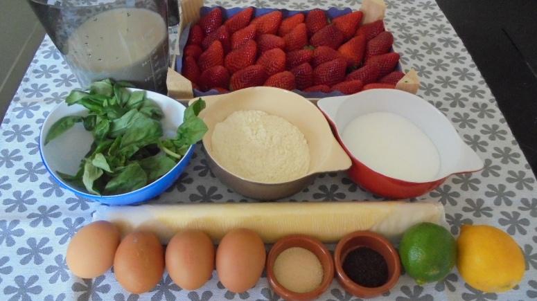 Tarte aux fraises et crème patissière au basilic (4)