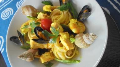 Liguine au saumon et crevettes (1)