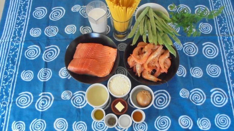 Liguine au saumon et crevettes (2)