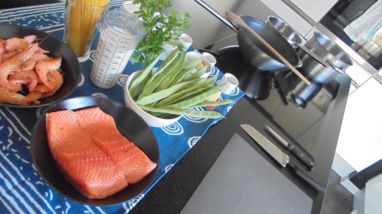 Liguine au saumon et crevettes (3)