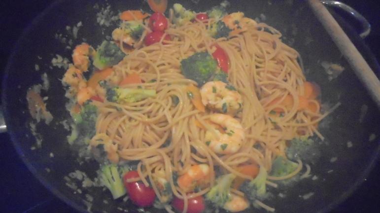 spaghetti aux crevettes (20)