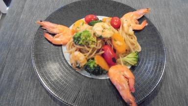 spaghetti aux crevettes (25)