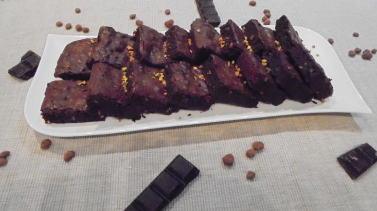 Brownies aux éclats de pistache et graine de café au cacao (17)