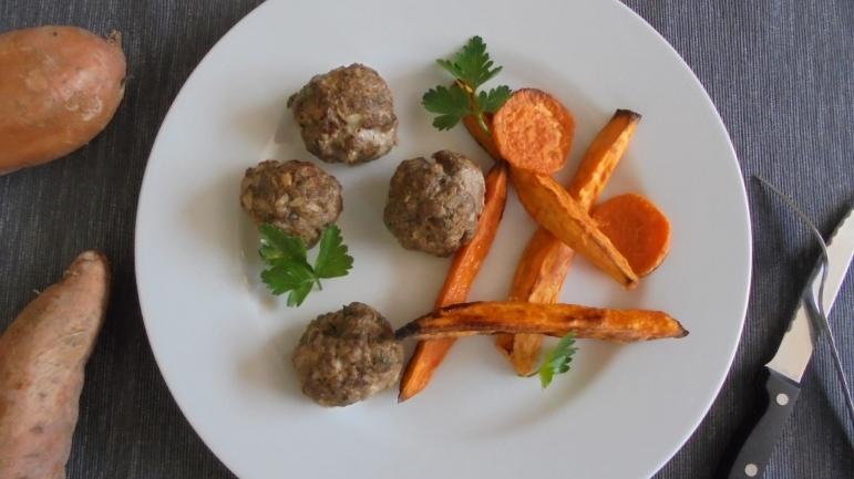 Boulettes de boeuf et patates douce (1)