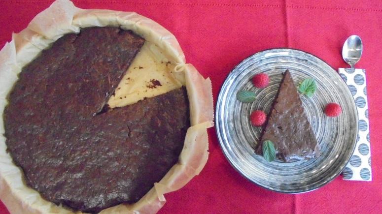 Moelleux au chocolat , carottes et amandes éfflées (25)